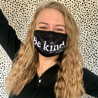 Student in Be Kind Mask